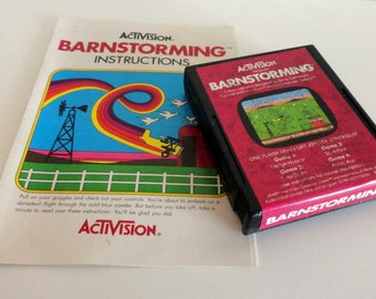 Vintage Activision Barnstorming Video Game for the Atari 2600 with Box and Manual