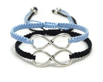Couples Infinity Bracelet, Friendship Bracelet, Couples Bracelet, Infinity Bracelet Set, His and Hers, Matching Bracelet, Couple Gift
