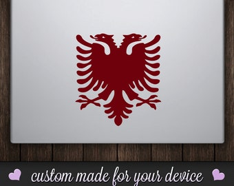 Double Headed Eagle Vinyl Decal Sticker - Macbook Decal, Laptop Decal, Car Decal, iPad Decal, iPhone Decal