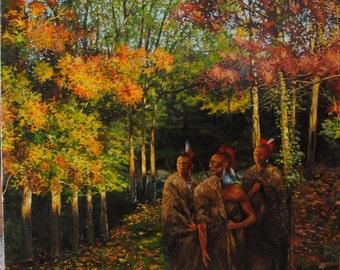 Osage Warriors on Fall Hunt