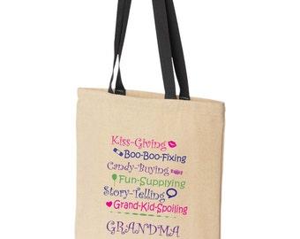 Grandma tote bag.  Makes a great gift for any Grandma / Nana / Mamaw, etc.!