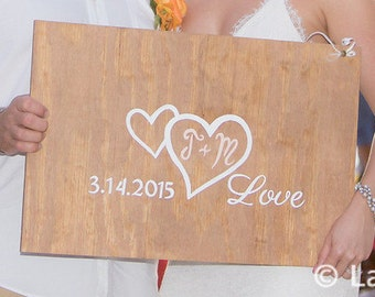Wedding Guest Book Alternative Wood Sign, Rustic Guest Book Alternative Wedding Gift. Guestbook Alternative