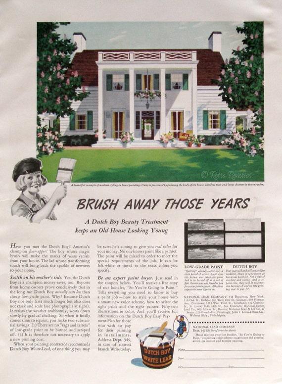 1940 dutch boy white lead paint exterior house by retroreveries for Lead paint on exterior of house