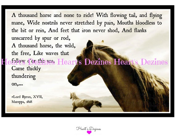 Running Horses Print Poem And Wild By