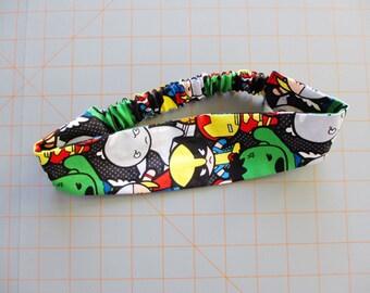 Marvel Kawaii Superhero Print Cotton Elastic Headband