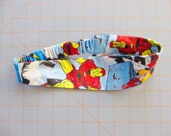Marvel Superhero Comic Book Print Cotton Elastic Headband