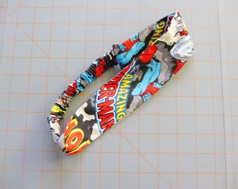 Marvel Superhero Comic Book Logo Print Cotton Elastic Headband