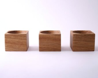 3 Wood bowls – Wooden egg holders