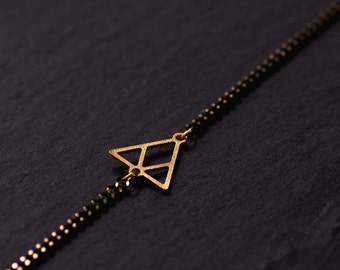 Bracelet Triangle gold & Black