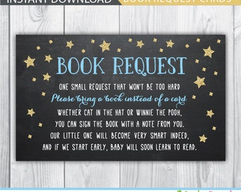 bring a book baby shower insert / bring a book insert / baby shower book request / bring a book instead of a card / twinkle twinkle star