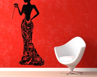 Salon Wall Art hair salon wall decals beauty cosmetic happiness woman wall