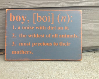Boy A Noise With Dirt On It Wood Sign