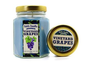 Vineyard Grapes Scented Soy Candle | Handmade Scented Candle -- 4oz