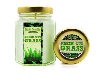 Fresh Cut Grass Scented Soy Candle | Handmade Scented Candle -- 4oz