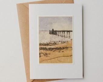 Clevedon Pier Gocco Handmade Card