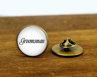groomsman cufflinks, groomsman tie tacks, groomsman tie clip, custom wedding tie pins, round, square cufflinks, tie clip or a matching set