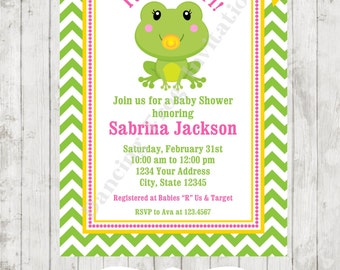 Frog baby shower Etsy