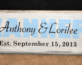 Custom Family Name Plaque with Beach Theme