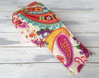 DSLR Paisley Camera Strap Cover-Lens Pocket and Padded-Boho- Bohemian-Pink-Orange-Yellow-Birthday Photographer Birthday Gift