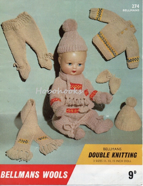 Knitting Pattern 13 Inch Doll : Baby Dolls Knitting Pattern Baby Dolls Clothes Baby Dolls Outdoor Set 11,13,1...