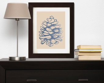 PRINTABLE Pinecone Wall Art , Pinecone Wall Decor , Pinecone Print , Nature Wall Decor , Nature Wall Art , Nature Print , Home Decor