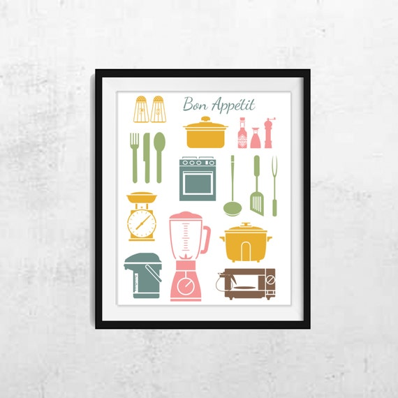 Kitchen wall art kitchen wall decor kitchen decor for Modern kitchen wall decor