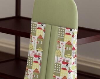 Custom Baby Diaper Stacker - City Scene - Organic Cotton - Nursery Accessories