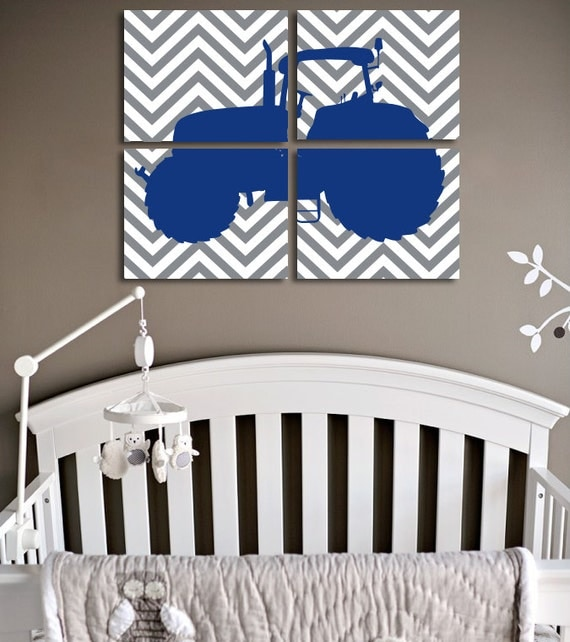 Items Similar To Farm Tractor Nursery Baby Boy Nursery