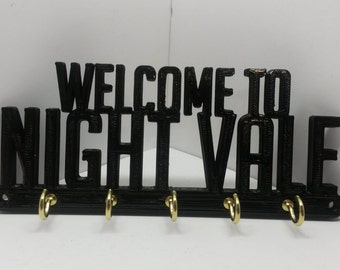"""Welcome to Night Vale WTNV Key Rack Key Holder Jewelry organizer 6"""" x 2 1/2"""" x 3/16"""""""