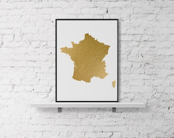 Gold Foil Norway Map Printable Map Wall Art Norway Map Print - Norway map poster