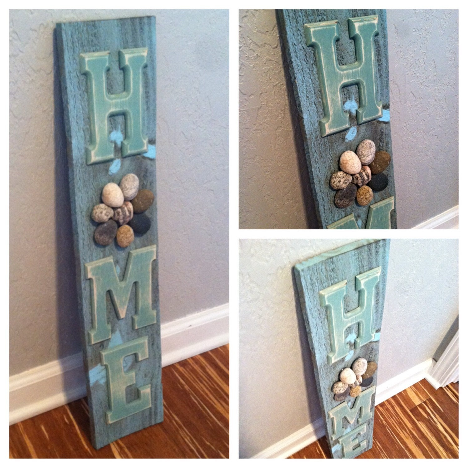 Ready to ship reclaimed wood home signrustic by for Wooden art home decorations