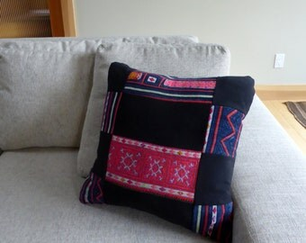 Vintage Hand Embroidered Pillow Cover #9