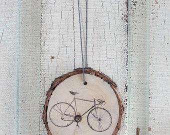 Black Bicycle Wood Ornament