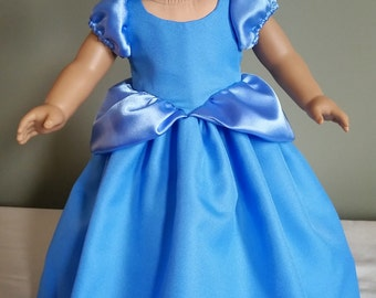 """Cinderella's classic ball gown. Fits American Girl and other 18"""" dolls."""