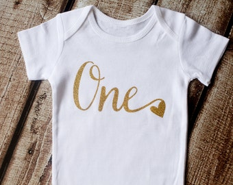 First Birthday Outfit, First Birthday Shirt, First Birthday Onesie, 1st Birthday, One heart Shirt, Birthday Shirt, Second Birthday, Birthday
