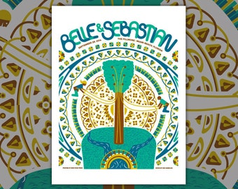 Belle & Sebastian Concert Poster -  Limited Edition Screen Print Gig Poster