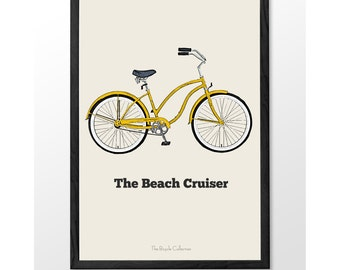 Beach Cruiser bike, Printable wall art, Old bike, bike art, vintage, tricycle, INSTANT DOWNLOAD, Bicycle collection, printable bike, bar art