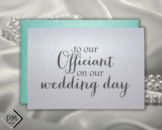 Thank You Note For Wedding Gift Card: Wedding Officiant Card Thank You Card To Reverend By