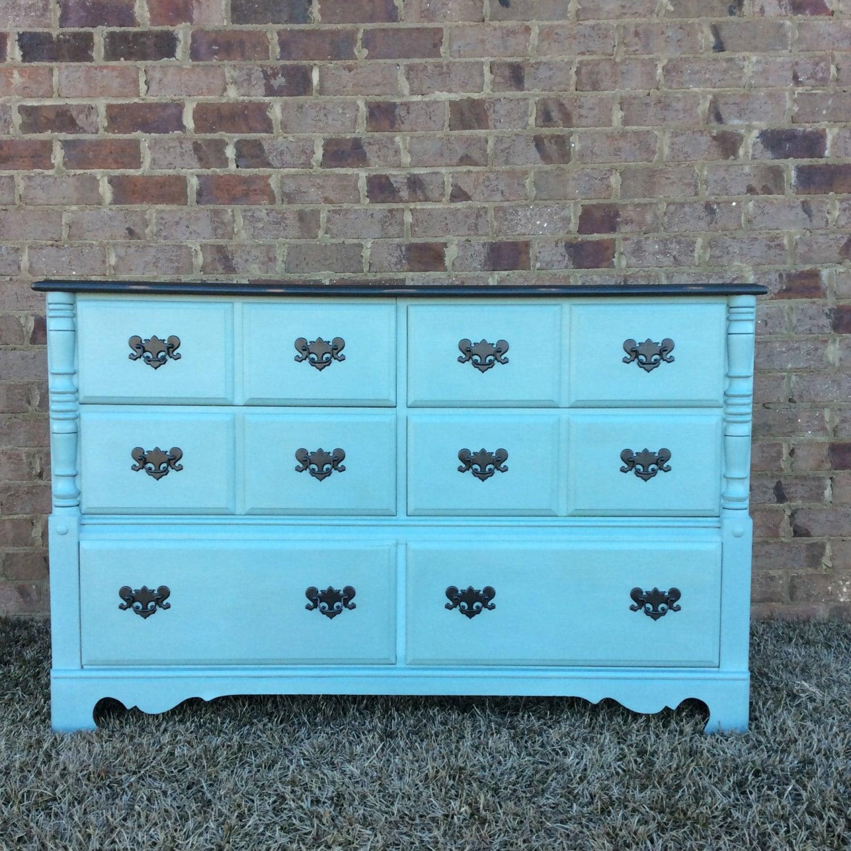 Annie Sloan 6 Drawer Solid Maple Dresser Vintage