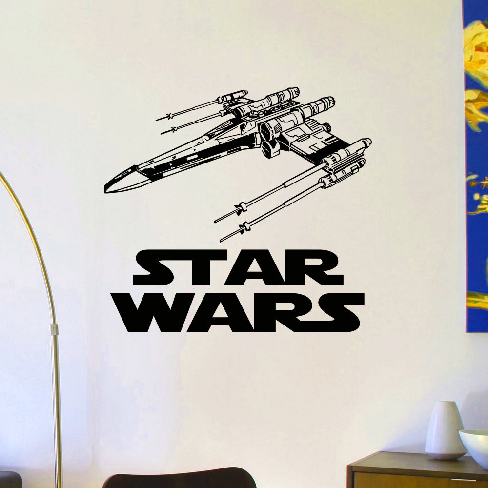 Star Wars X Wing Star Fighter Wall Decals Vinyl Stickers Home