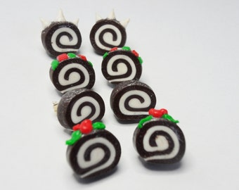 Yule Log Earrings