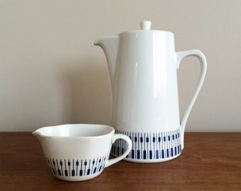 Mid Century Danish Modern Coffee Pot and Creamer, Danild by Lyngby