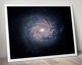 Milky Way Outer Space Art - Astronomy Space Poster, Hubble, Nasa Print, Nasa Poster, Galaxy Print, Galaxy Poster
