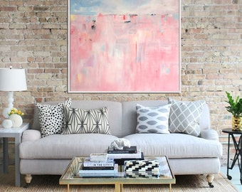 Pink Abstract Print, Giclee Print,  Abstract Painting, Modern Art , Fine Art Print, Contemporary Art, Abstract Landscape