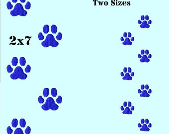 Animal - Cat- Dog - Paw Print Trail Machine Embroidery Design -Digitized by Hand 2 sizes for 4x4 and 5x7 hoops