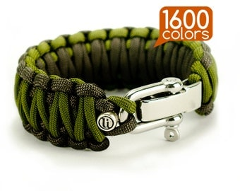 550 paracord bracelet - 550 cord bracelet «king cobra» with real stainless steel buckle. Create your own bracelet from the 1600 colors!