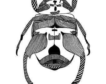 A3 Beetle Screenprint