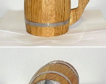 Beer Mug Wooden Beer Mug 0.5 l, natural wood,handmade,tankard,groomsmen gift, Father's day, tankard, Dad, grooms, dad, groom,birthday