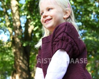 Pullover/Merino Jumper/Knitted Merino Sweater/Marsala Colour Pullover/Girl's Pullover/Merino Short Sleeve Pullover/Hand knitted Sweater