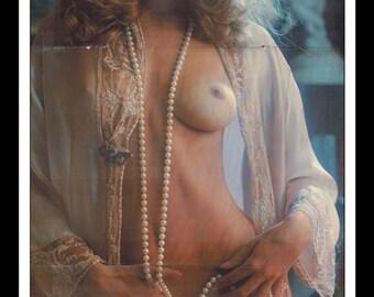 "Mature Playboy October 1975 : Playmate Centerfold Jill de Vries Gatefold 3 Page Spread Photo Wall Art Decor 11"" x 23"""